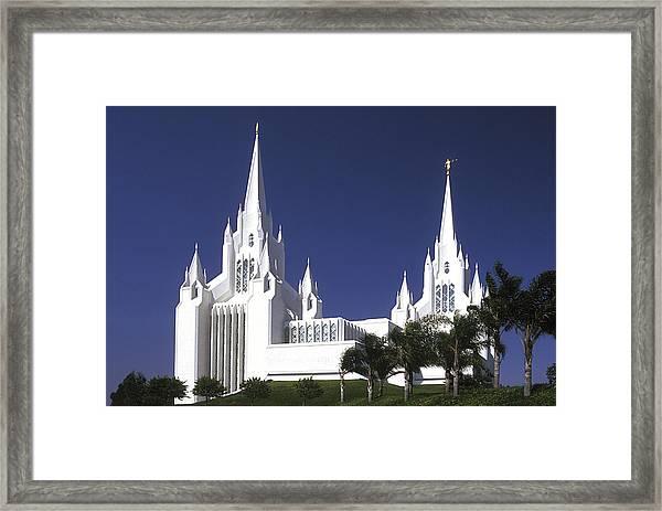 Mormon Temple Framed Print