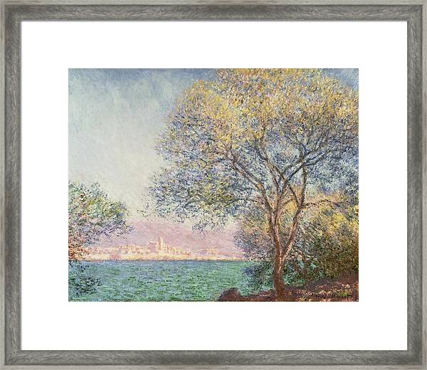 Framed Print featuring the painting Morning At Antibes by Claude Monet
