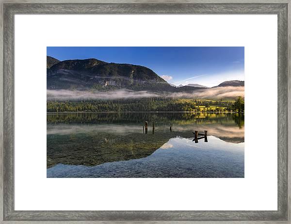 Morning At Lake Bohinj Framed Print