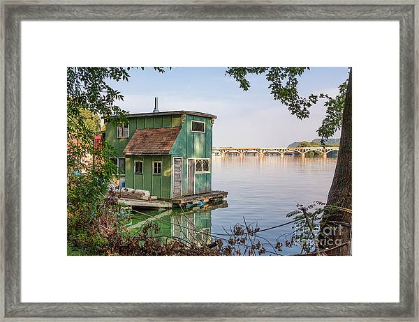 Framed Print featuring the photograph Morning At Latsch Island by Kari Yearous