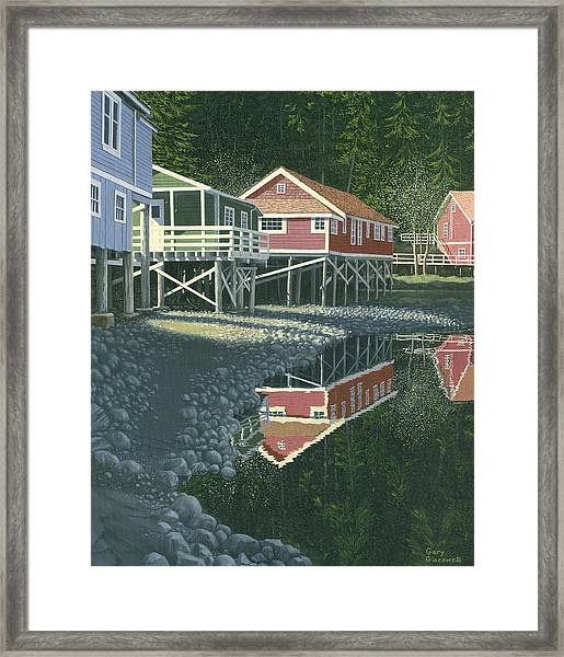Morning At Telegraph Cove Framed Print