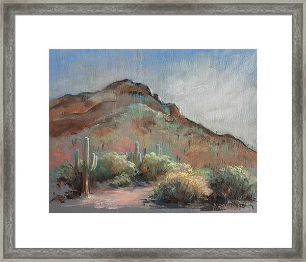 Morning At Usery Mountain Park Framed Print