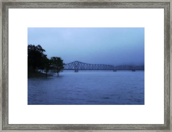 Morning Blues  Framed Print