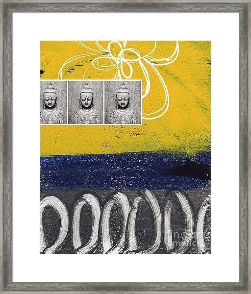 Morning Buddha Framed Print