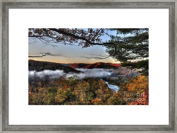 Morning Cheat River Valley Framed Print