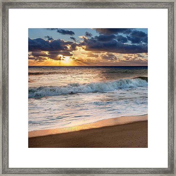 Morning Clouds Square Framed Print