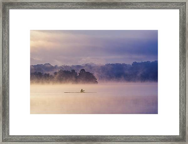 Morning Exercise Framed Print