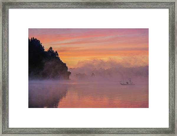 Morning Fishing Framed Print