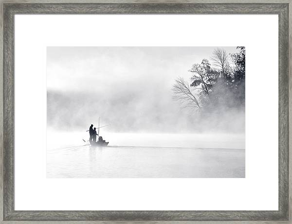 Morning Fishing 5 Framed Print