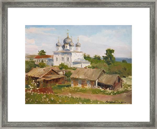 Morning In Belozersk Framed Print