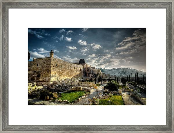 Morning In Jerusalem Hdr Framed Print