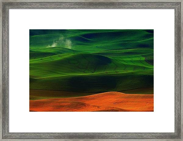 Morning In Palouse Framed Print