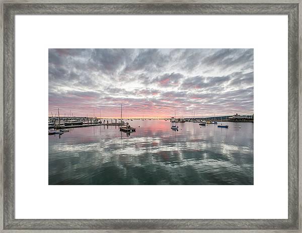 Morning In Rockland Harbor Framed Print
