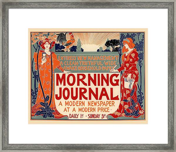 Morning Journal Framed Print