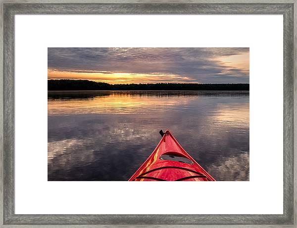 Morning Kayak Framed Print