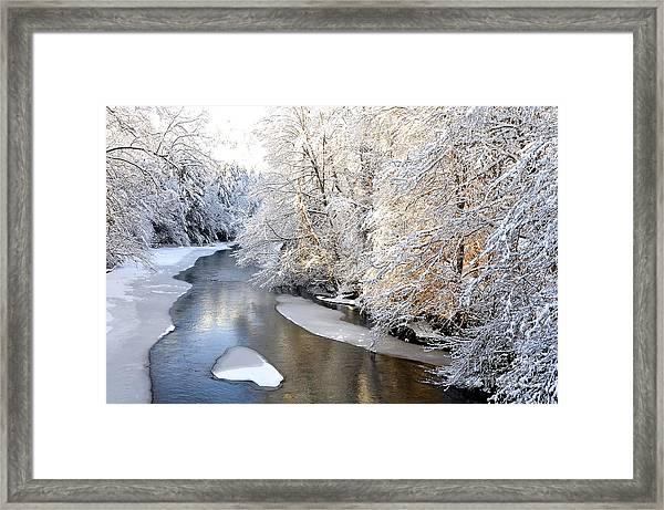 Morning Light Fresh Snowfall Gauley River Framed Print