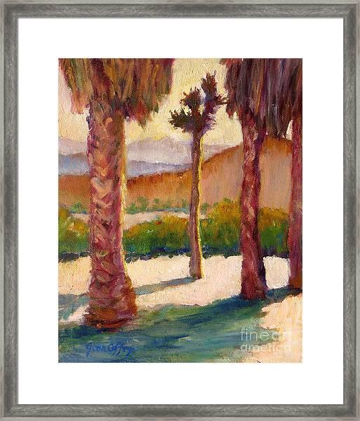 Morning Light On Joshua Tree Framed Print