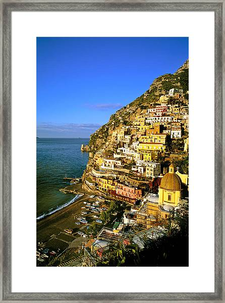 Morning Light Positano Italy Framed Print