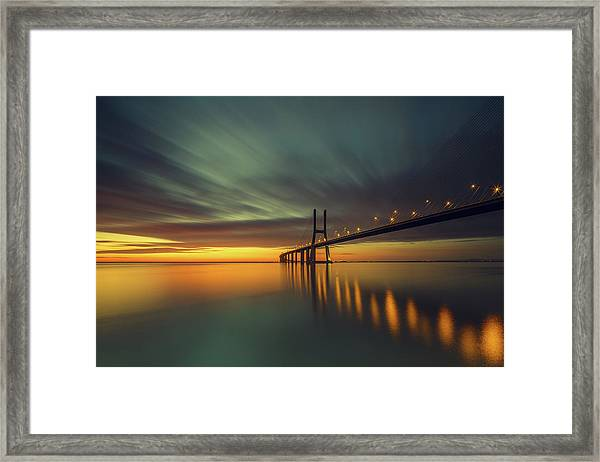 Morning Lights Framed Print