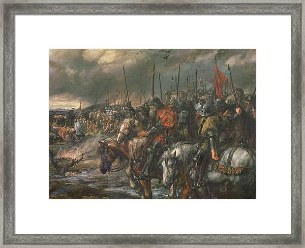Morning Of The Battle Of Agincourt, 25th October 1415, 1884 Oil On Canvas Framed Print