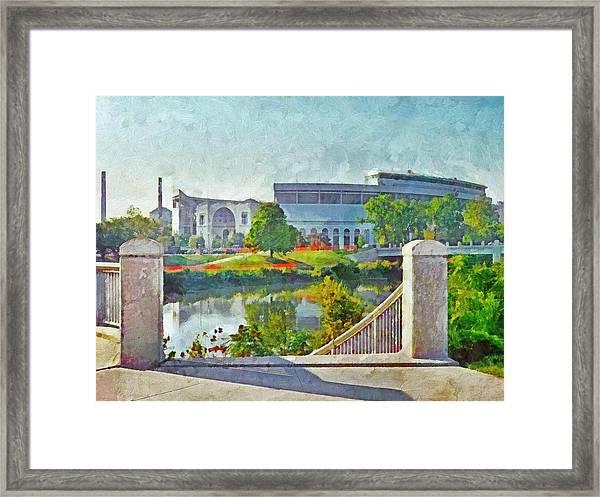 The Horseshoe By Morning Light. The Ohio State University Framed Print