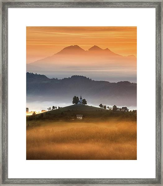 Morning Rays Framed Print by Ales Krivec