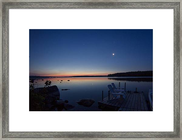Morning Reflection On Branch Lake In Maine Framed Print