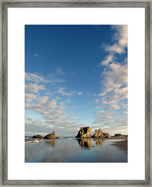 Morning Rocks Framed Print