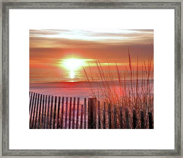 Morning Sandfire Framed Print