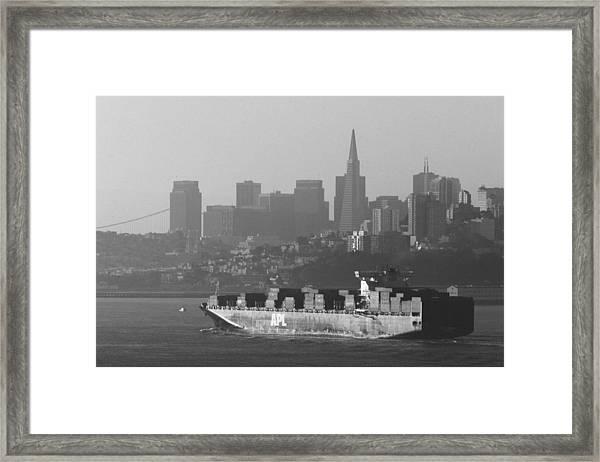 Morning Shipment Framed Print