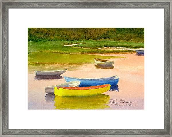 Morning Skiffs Framed Print