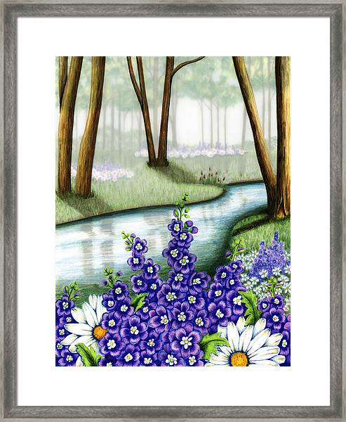 Mornings Mist Framed Print