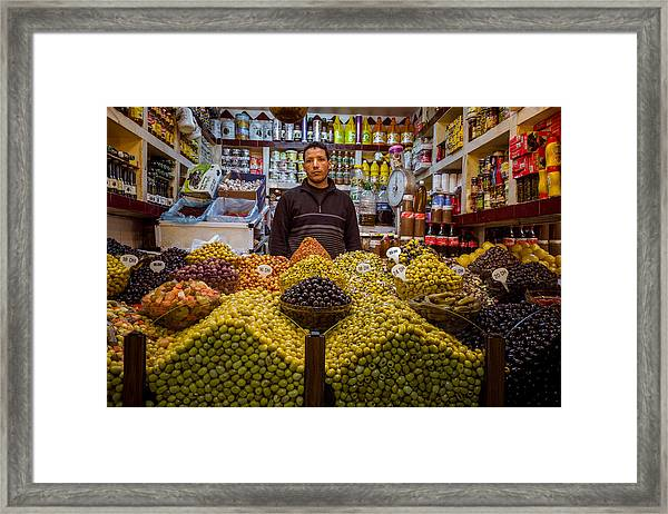 Moroccan Grocery Framed Print by Pierre-Yves Babelon