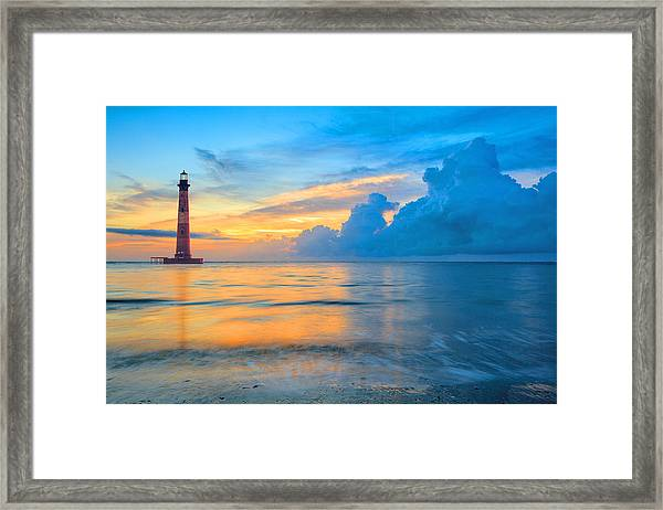 Morris Island Lighthouse Framed Print