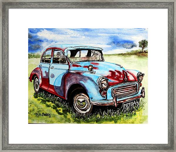 Morris Minor Framed Print