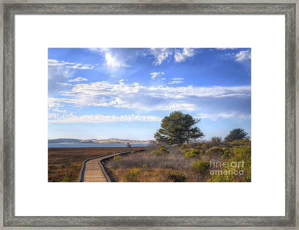 Morro Bay Boardwalk Framed Print