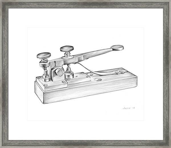Morse Telegraph Framed Print
