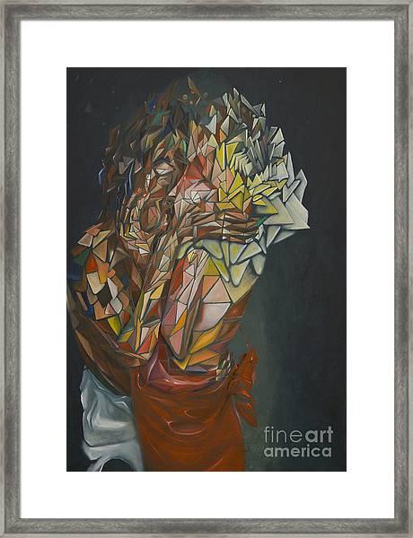 Mosaic Embrace Framed Print