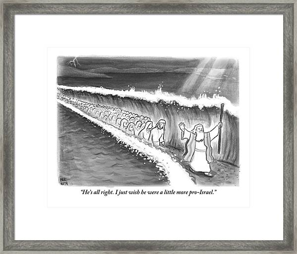 Moses Parting The Sea Framed Print