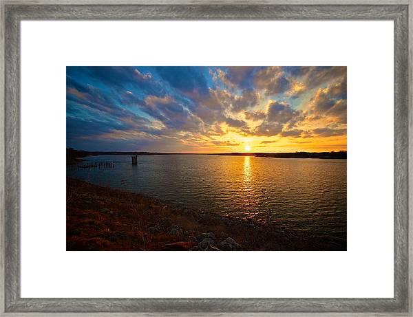 Moss Lake 6425 Framed Print