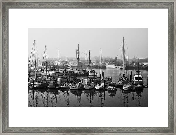 Moss Landing Harbor Framed Print