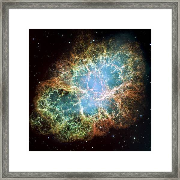 Most Detailed Image Of The Crab Nebula Framed Print