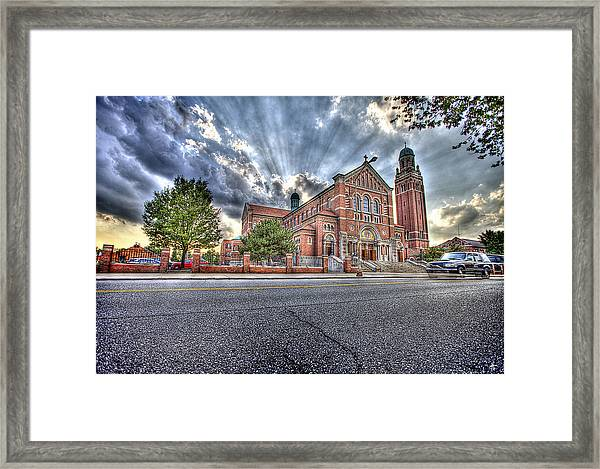 Most Holy Redeemer Catholic Church Detroit Mi Framed Print
