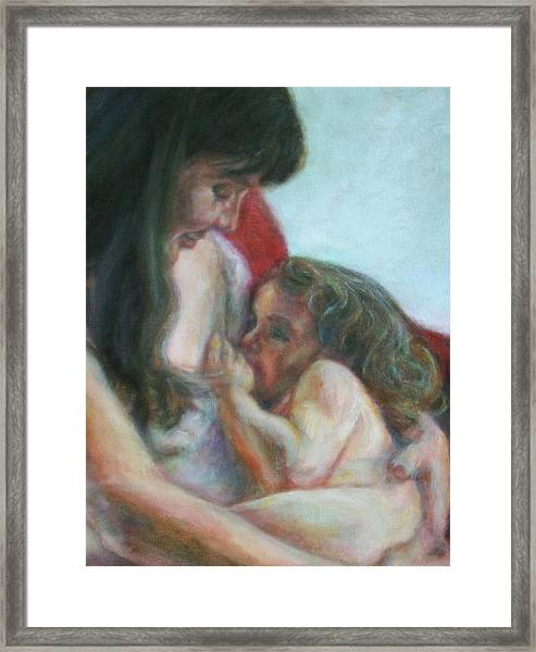 Mother And Child - Detail Framed Print