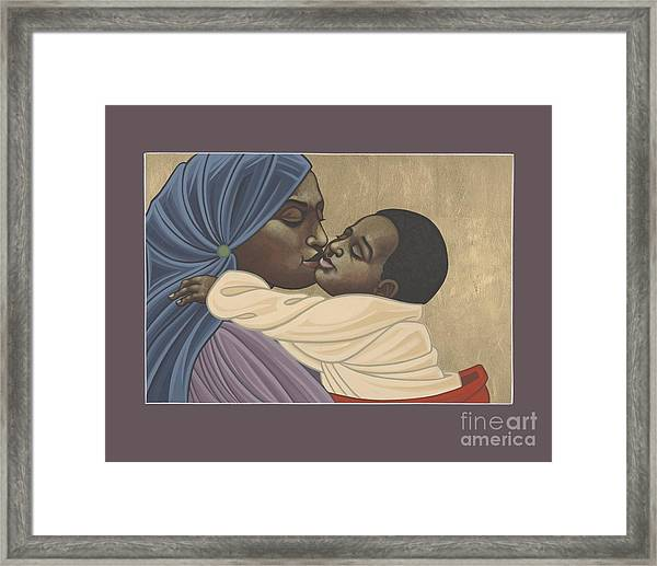 Mother And Child Of Kibeho 211 Framed Print
