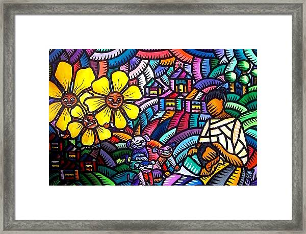 Mother And Child Sf 2010 Framed Print