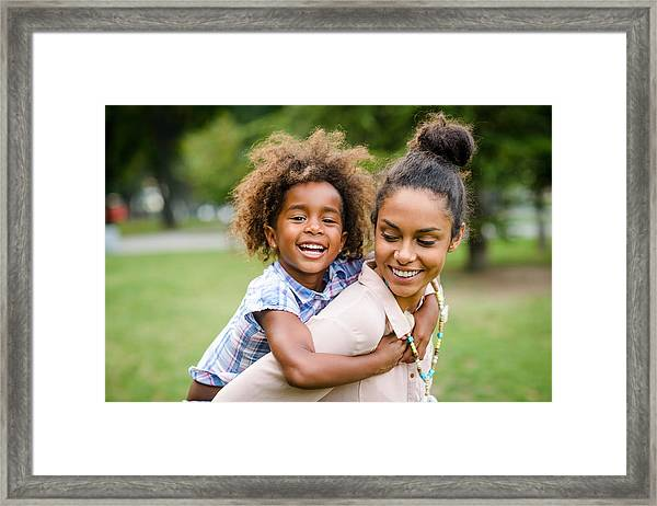 Mother And Daughter Framed Print by MStudioImages