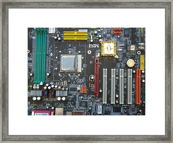 Motherboard Cityscape Framed Print