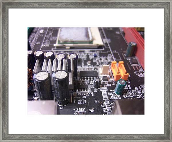 Motherboard Tanks Framed Print