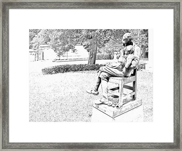 Motherless Sculpture By George Anderson Lawson Framed Print
